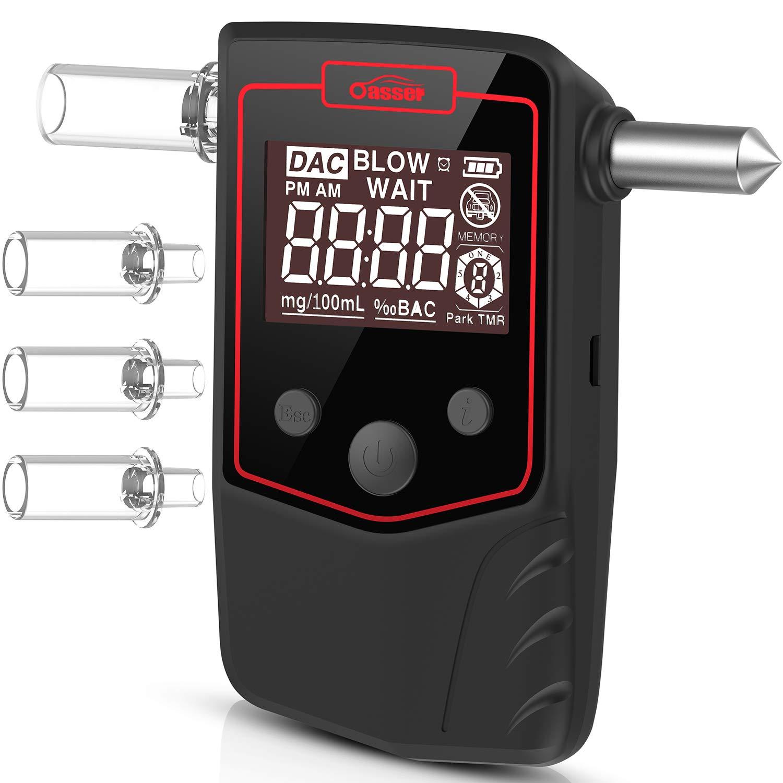 Mise Hors Tension Automatique Ethylotest Electronique /à Double /écran LCD Ethylotest Homologu/é Plage 0,0-1,9 g//l Alcootest avec Alerte Sonore